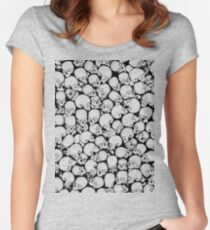 Gothic Crowd B&W Women's Fitted Scoop T-Shirt
