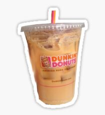 DUNKIN DONUTS ICED COFFEE LATTE EMMA CHAMBERLAIN GIRL TEEN CARMEX LONGHCHAMP CITY VIBES COLLEGE UNIVERSITY STARBUCKS  Sticker