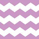 Lavender Chevron Print by itsjensworld