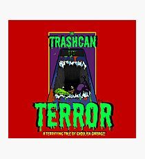 Pulp Horror - The Trashcan Terror Photographic Print
