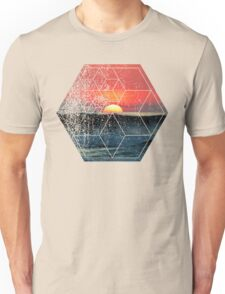 Nature and Geometry - Lovely Sunset at Sea Unisex T-Shirt