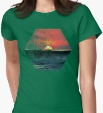 Nature and Geometry - Lovely Sunset at Sea Womens Fitted T-Shirt