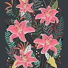 Hawaiian Party Art Illustration by uzualsunday