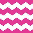 Magenta / Hot Pink Chevron Print by itsjensworld