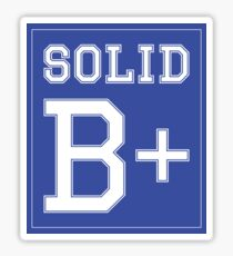 """Solid B+"" Sticker"