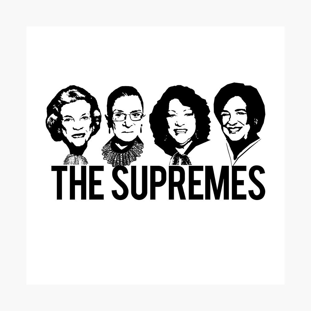 LOS SUPREMOS Tribunal Supremo RBG Sotomayor Kagan Meme Lámina fotográfica
