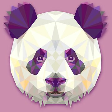 Geometric panda by brusencov386