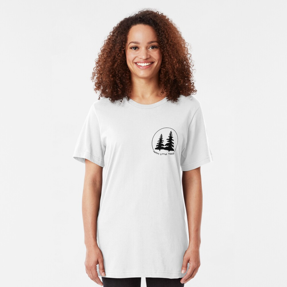 Happy Little Trees Slim Fit T-Shirt