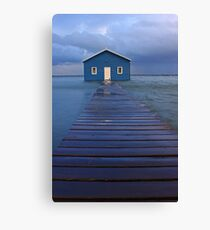 Storm Surge At Crawley Edge Boatshed  Canvas Print