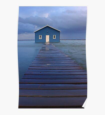 Storm Surge At Crawley Edge Boatshed  Poster