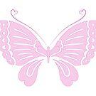 Liebes-Schmetterling - Rosa - traditioneller japanischer Stil von bunbun369