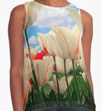 Tulips in New York Contrast Tank