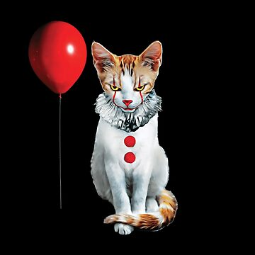 Cat Clown Kitten by TrendyTees12