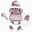 Welcome Baby Girl by lynzart