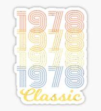 Born in 1978 vintage Sticker