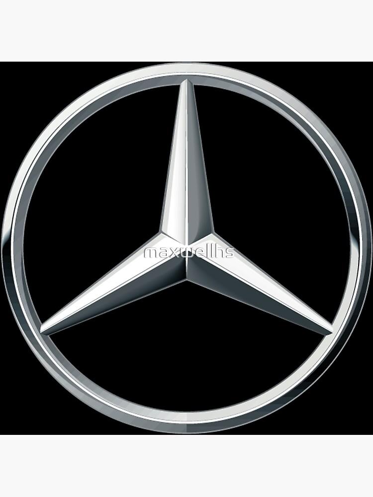 Mercedes Benz Symbol >> Mercedes Benz Logo Black Tshirt Poster