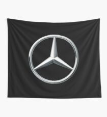 mercedes benz logo (black tshirt) Wall Tapestry