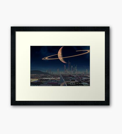 The Future Awaits Framed Print
