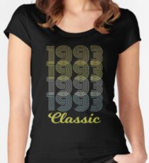 Born in 1993 Vintage Women's Fitted Scoop T-Shirt