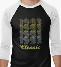 Born in 1993 Vintage Men's Baseball ¾ T-Shirt