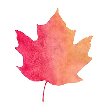 Watercolor Maple Leaf for Fall by whimseydesigns
