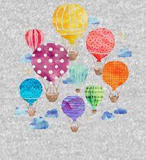 Hot Air Balloon Night Kids Pullover Hoodie