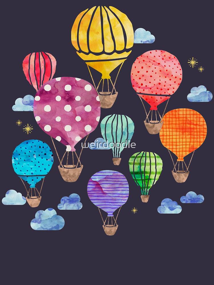 Heißluftballon Nacht von weirdoodle