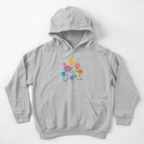 Hot Air Balloon Night Kids Pullover Hoodie