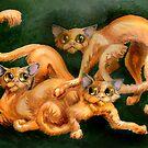 three cats by Ellen Marcus