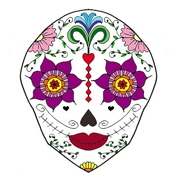 Mexican Sugar Skull by alexbookpages