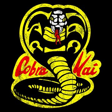 Cobra Kai Shirt- Vintage Distressed Style- Retro 80s and 90s Vintage Movie Shirt by WishingInkwell