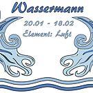 Sternzeichen Wassermann von Stefanie Keller