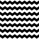 Black and White Large Scale Chevron Print by itsjensworld