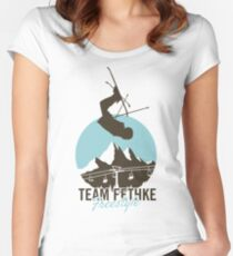 Team Fethke: Freestyle (Brown/Blue) Fitted Scoop T-Shirt