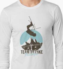 Team Fethke: Freestyle (Brown/Blue) Long Sleeve T-Shirt