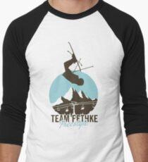Team Fethke: Freestyle (Brown/Blue) Baseball ¾ Sleeve T-Shirt
