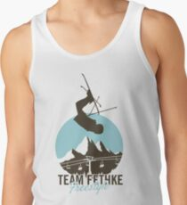 Team Fethke: Freestyle (Brown/Blue) Tank Top