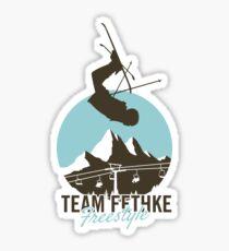 Team Fethke: Freestyle (Brown/Blue) Sticker