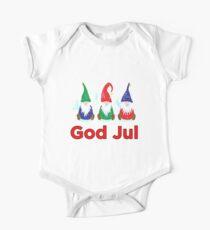Gott Jul Tomte Nisse Skandinavische Merry Chistmas Gnomes Elves Baby Body Kurzarm