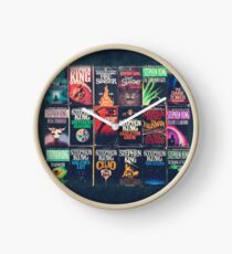Stephen King Book Fronts Clock