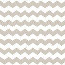 Modern Warm Gray and White Chevron Print by itsjensworld