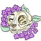 Cat Skull and Lilacs by BriPi