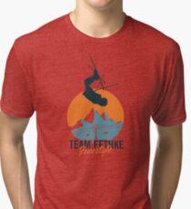 Team Fethke: Freestyle (Orange/Blue) Tri-blend T-Shirt