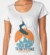 Team Fethke: Freestyle (Orange/Blue) Premium Scoop T-Shirt