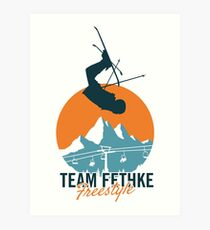 Team Fethke: Freestyle (Orange/Blue) Art Print