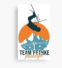Team Fethke: Freestyle (Orange/Blue) Canvas Print