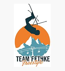 Team Fethke: Freestyle (Orange/Blue) Photographic Print