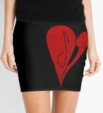 SP Heart - Smashing Pumpkins  - Retro Vintage Style Music Shirt Mini Skirt