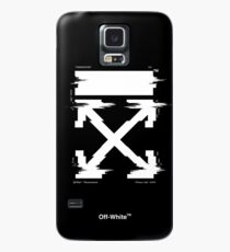 Off-White Arrows Temperature Glitch (Dark) Case/Skin for Samsung Galaxy