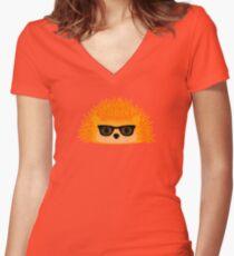 Sedgewick Rocking Orange Orbison Women's Fitted V-Neck T-Shirt
